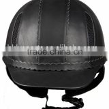 new style manufacturer leather equestrian helmet/horsing helmet/riding helmet/ horseman helmet