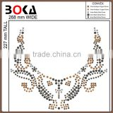 new fashion necklace iron on motif for t-shirts sportswear heat transfer for clothes decoration