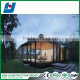 Light steel prafabricated houses with big glass windows