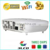 native resolution1280x800,800x600,960x576 HD 3D 3LED 3LCD gobo projector machines for sale/ China smartphone projector