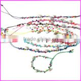 FL0912 Fashion wood beads and conch shell charm friendship bracelet,handmade friendship bracelet