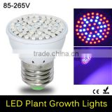 New Full Spectrum 5W E27 41 Red + 19 Blue LED Grow light AC 85 - 265V Growth lamp For Flower Plant Hydroponics System & Bo