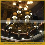 Iron Material and Bronze Color Mosaic Chandelier Lamp, modern pendant light, customized pendant lighting