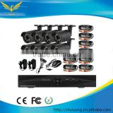 DVR monitor system! DVR KITS system with 8 Dome 720P AHD cameras CCTV System 8CH AHD DVR KIT CCTV Camera KIT