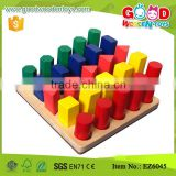 Math Teaching Aids Color and Shape Sorter Matching Professional Wooden Toys                                                                         Quality Choice