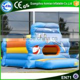 Hight quality inflatable kids bounce house commercial grade moonwalks inflatable dolphin bouncer for party