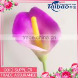 Alibaba China supplier wedding bridal bouquet usage PU hand made calla lily flower