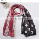 American flag Pattern Women Scarves Elegant viscose scarf for ladies Infinity Scarf Shawls Wrap