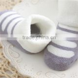 2015 Hot selling high quality wholesale children warm tube socks cotton baby terry socks