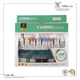 Wholesale Best Selling 12ml High Qulity 10 Colours Bulk Fabric Color Paint In Stcok With Brush And Pencil