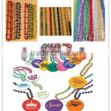 wholesle alili cheap necklace Mardi Gras colour beads necklace