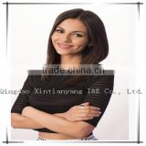 100% natural middle part hair line kosher wigs with middle hair length