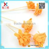 orange color cheap price aroma dry flower essential oil reed diffuser with stick