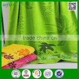 china supplier cotton palm tree jacquard velour beautiful bath towels with embroidery                                                                                                         Supplier's Choice