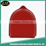 Unique design hot red leather coin sorter purse
