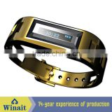Smart metal bluetooth bracelet watch with vibrating for caller id and phone number display WT-A10