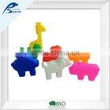 Educational Toy 75 PC Per Set Animal Family Block For Nursery School