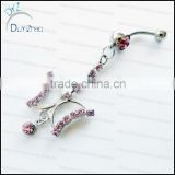 2013 new products beautiful navel piercing nickel free belly button rings