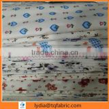TC white flannel cartoon printed flannel fabric for baby blankets for india