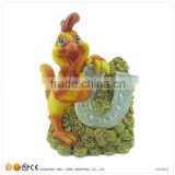 Resin Rooster Figurine of 12 Chinese Zodiac Animals