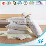 White 10% Goose Down Feather Bed Pillow