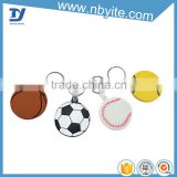high quality hot sale flat or 3D soft pvc keychain with customized basketball shoe designed