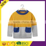 Long sleeve wholesale winter warm design quality lovley fashion knitted children hoodies
