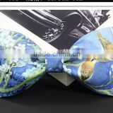 Color Money Print Banded Bow Tie