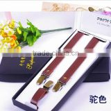 High Quality Leather Suspenders For Men