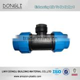 Plastic Pipe quick connector PP compression fittings for watering reducing female tee for irrigation 20mm to 110mm PN16