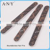 Nail Art Shaping and Polishing Black and Golden Emery Board 100/180 Grit Nail File                                                                         Quality Choice