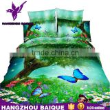 Beautiful Tree Flowers Colorful Butterfly Queen Size 3D Bedding Set