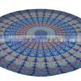 Jaipuri cotton Mandala Round Tapestry hippie beach sheet through table cover 100% cotton wholesale