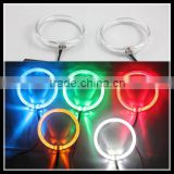 new guiding light 100mm 80mm 12v 5w with blue/red/yellow/white/green color led angel eyes car headlight led halo rings