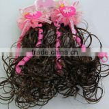Girls Hair clips Heart Acrylic Ribbon bow Lace flower Kid wigs