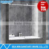 Flat Track Sliding Shower Door , Glass Shower Barn Door for Bathtub