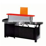 PT-P011 hotel lobby reception table chrome black glass desk shop cash counter design