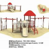 Red outdoor playground with monkey bar CIT10-126D