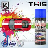 450ml colorful aerosol chrome paint formular colors