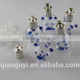 Lovely mini hollow glass bottle pendant necklace vial pendant mini perfume bottle gift rice vial for rice jewelry