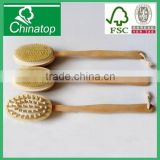 High Qulity Long Wood Massager Bath Shower Back Bath Scrubber