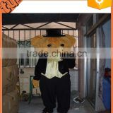 2015 hot sale cheap adult plush animal walking cartoon costume / plush teddy bear costume for advertising
