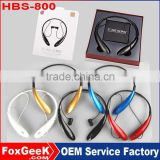 HBS-800 Stereo Bluetooth Headset Wireless Headphone Neckband Style Earphones for iPhone Nokia HTC Samsung LG Bluetooth Cellphone