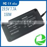 for LENOVO ASUS DELL 19.5V 7.7A 150W 6.3*3.0mm 5.5*2.5mm 6.5*4.4mm 7.4*5.0mm laptop power adapter supply