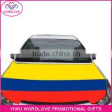 wholesale high quality heat transfer printing waterproof elastic national flag car engine hood cover for cheering