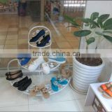 retail metal steel wire round shoes shelf outdoor shoe rack for mall shops shelf commercial shoe rack