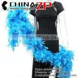 NO.1 Supplier CHINAZP Beautiful 80 Gram Weight in Stock Colored Turquoise Turkey Chandelle Feathers Boas for Decoration