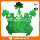 Wholesale Irish St Patricks Day EVA Clover Glitter Powder Kids Stereoscopic Crown Party Decoration Hat