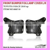 Front Bumper Fog Lamp cover L/R for Toyota Hiace body parts 2010-2013