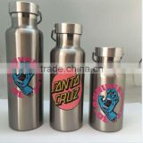 Wholesale insulated stainless steel water bottle with Lid bamboo 350ml 500ml 600ml double wall stainless steel water bottle